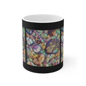 Shells Modern Art Ceramic Mug - sasyjamdesigns