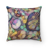 Shells Modern Art Throw Pillow - sasyjamdesigns