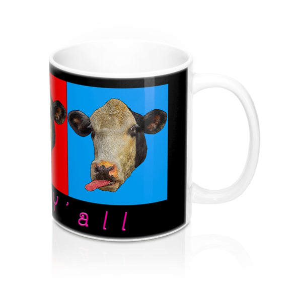 Three Cow Head Ceramic Mug - sasyjamdesigns