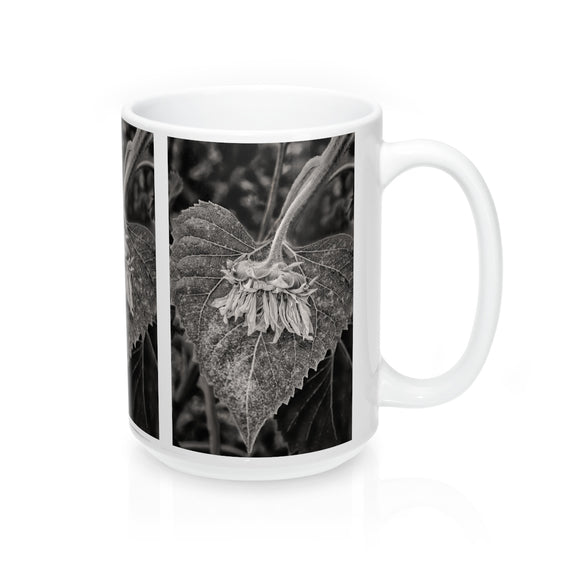 Fallen Sunflower Ceramic Mug - sasyjamdesigns