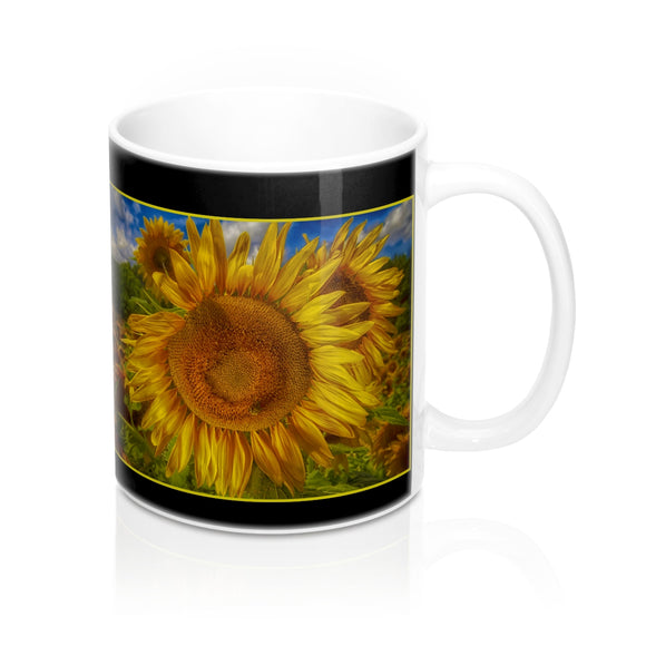 Sunflower Flame Ceramic Mug - sasyjamdesigns