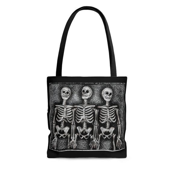 Skeletons Bone Crew Tote Bag - sasyjamdesigns