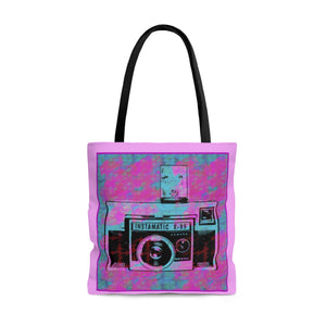 Vintage Camera Tote Bag Pink - sasyjamdesigns