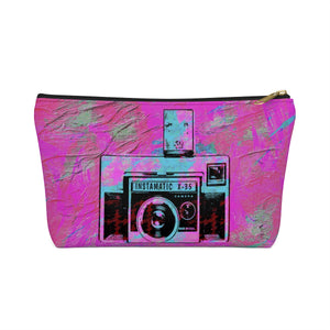 Vintage Camera T-bottom Accessory Pouch / Makeup Bag - sasyjamdesigns