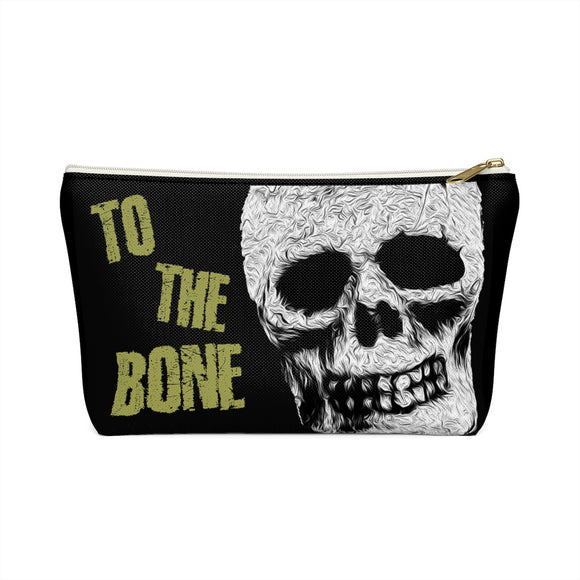 Skull To The Bone T-bottom Accessory Pouch / Makeup Bag - sasyjamdesigns