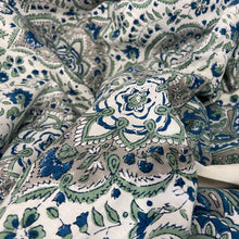 Load image into Gallery viewer, Hand Block Printed Bed Cover Set - Patti Blue