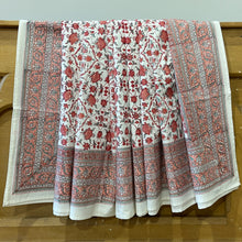 Load image into Gallery viewer, Hand Block Printed Bed Cover Set - Egyptian Patti Red