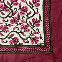 Load image into Gallery viewer, Hand Block Printed Dohar - Pink Creeper