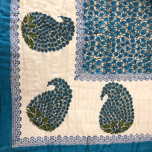 Hand Block Printed Quilt - Paisley Patti