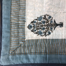 Load image into Gallery viewer, Hand Block Printed Quilt - Madhubala Grey