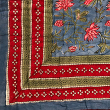 Load image into Gallery viewer, Hand Block Printed Quilt - Cornflower Blue