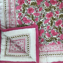 Load image into Gallery viewer, Hand Block Printed Quilt - Bush Flower