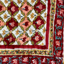 Load image into Gallery viewer, Hand Block Printed Quilt - Dholamaru Chokri