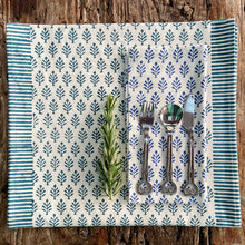 Load image into Gallery viewer, Hand Block Printed Napkins - Neem Estate Blue - 4