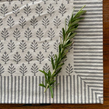 Load image into Gallery viewer, Hand Block Printed Placemats - Neem Grey - Set of 2