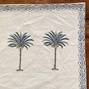 Hand Block Printed Placemats - Palm Tree - Set of 2