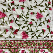 Load image into Gallery viewer, Hand Block Printed Quilt - Floral Bale Pink