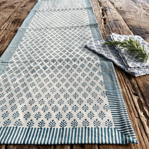 Hand Block Printed Placemats - Neem Blue - Set of 2