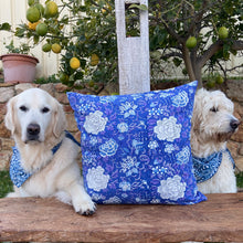 Load image into Gallery viewer, Hand Block Printed Cushion Cover - Beautiful Blue