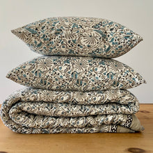 Load image into Gallery viewer, Hand Block Printed Quilt Set - Passion flower