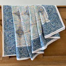 Load image into Gallery viewer, Hand Block Printed Bed Cover Set - Antique Dawn