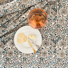 Load image into Gallery viewer, Hand Block Printed Table Cloth - Passion Flower