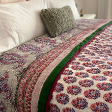 Load image into Gallery viewer, Hand Block Printed Quilt - Paisley Pink