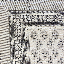 Load image into Gallery viewer, Hand Block Printed Kantha Quilt - Booti Datta Smoky Black