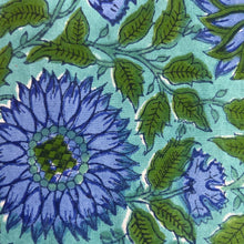 Load image into Gallery viewer, Hand Block Printed Table Cloth - Surajmukhi Blue