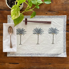 Load image into Gallery viewer, Hand Block Printed Placemats, handcrafted in pure cotton. Fair trade, colourful, sustainable, eco-friendly and ethical for unique décor