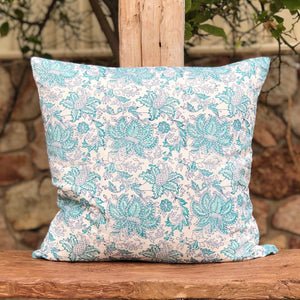 Hand Block Printed Cushion Cover, handcrafted in pure cotton. Fair trade, colourful, sustainable, eco-friendly and ethical for unique décor.