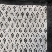 Load image into Gallery viewer, Hand Block Printed Table Runner - Neem Grey Patti