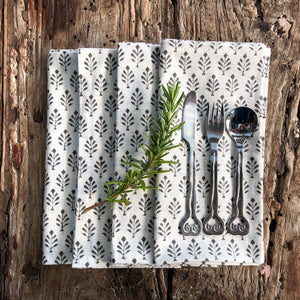 Hand Block Printed Napkins, handcrafted in pure cotton. Fair trade, colourful, sustainable, eco-friendly and ethical for unique décor