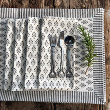 Load image into Gallery viewer, Hand Block Printed Napkins - Neem Grey - Set of 4