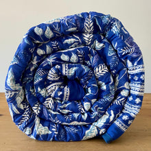Load image into Gallery viewer, Hand Block Printed Quilt - Bossanova Blue