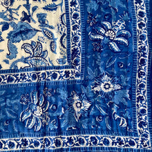 Load image into Gallery viewer, Hand Block Printed Quilt - Anarkali Blue