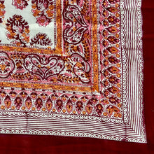 Load image into Gallery viewer, Hand Block Printed Dohar - Paisley Pink