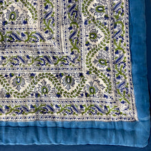 Load image into Gallery viewer, Hand Block Printed Quilt - Rukhsana Blue