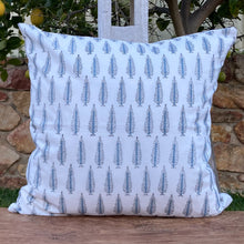 Load image into Gallery viewer, Hand Block Printed Cushion Cover - Winter Fall Tree