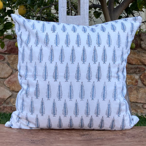 Hand Block Printed Cushion Cover - Winter Fall Tree