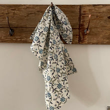 Load image into Gallery viewer, Hand Block Printed Tea Towel - Ragini Blue