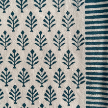 Load image into Gallery viewer, Hand Block Printed Table Runner - Majolika Blue