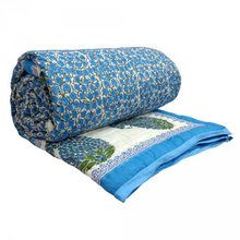 Load image into Gallery viewer, Hand Block Printed Quilt - Paisley Patti