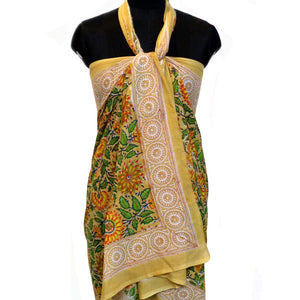 Hand Block Printed Sarong - Sunflower