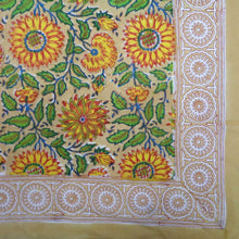 Load image into Gallery viewer, Hand Block Printed Sarong - Sunflower