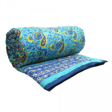 Load image into Gallery viewer, Hand Block Printed Quilt - Paisley New Blue