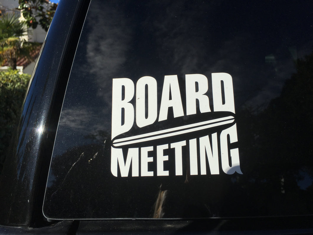 board meeting surfing sup surfboard transfer sticker
