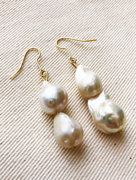 Veia Freshwater Stack Pearl Earrings | Fashion Jewellery