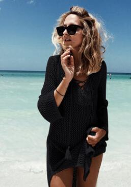 Women skirt knitting beach cover-up