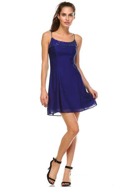 Women  Spaghetti Strap Shimmer Dress